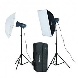 Studio Flash Kit 2x200w Abeja 200