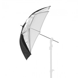 Parapluie 3 en 1 dual 72 cm Noir / Blanc /argent