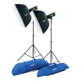 Kit de 2 flashs Lumen8 400 W Softbox