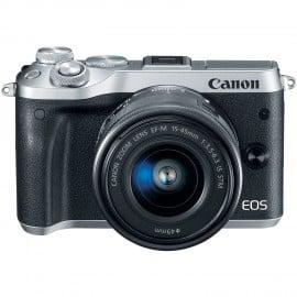 EOS M6 Argent + 15-45mm + 55-200mm