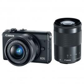 EOS M100 noir + EF-M15-45 S + M55-200