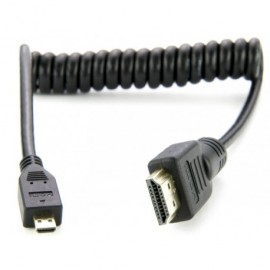 HDMI A Standard - HDMI D Micro Torsadé 30 cm