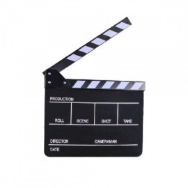 Black Clapperboard Velleda + marker chalk white