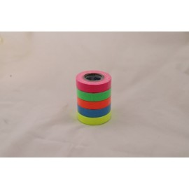 Lot de 5 gaffers fluos - 12mm x 5,5 mètres