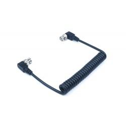 Câble SDI spiralé avec connecteurs coudés
