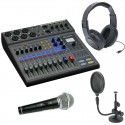 L-8 mixing console pack with accessories