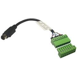 Adaptateur de câble de commande BirdDog 8 broches Mini Din à Phoenix