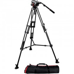 504HD,546BK Fluid video head & 546GB alu twin leg tripod