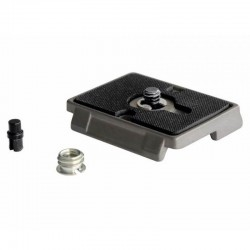 200PL Quick Release Plate with 1/4'' Screw and Rubber Grip