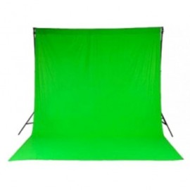 Green Chromakey background 7x3 meters