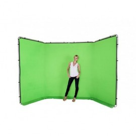 Green Panoramic background Chromagree 4m
