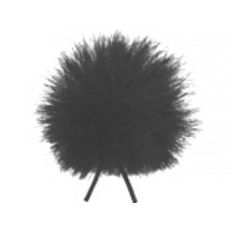 Bonnette poils noire pour micro cravate type Cos-11
