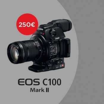 Canon EOS-C100 Mark II 200€ EXCLD. VAT IMMEDIATE DISCOUNT