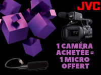 1 JVC GY-HC500E camera ordered & 1 JVC gun microphone offered !