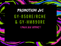 Promotion on GY-HM850RE/RCHE - GY-HM890RE cameras with an IDX pack for free !