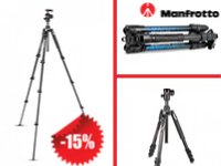 -15% off a selection of Manfrotto photo tripods!