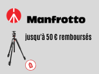 Manfrotto offers up to 50€ discount !